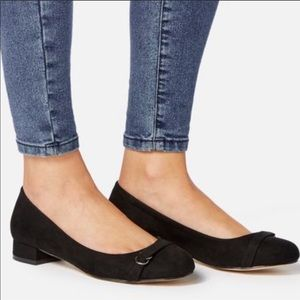 JustFab Lucilla Low Block Black Shoes Size 9